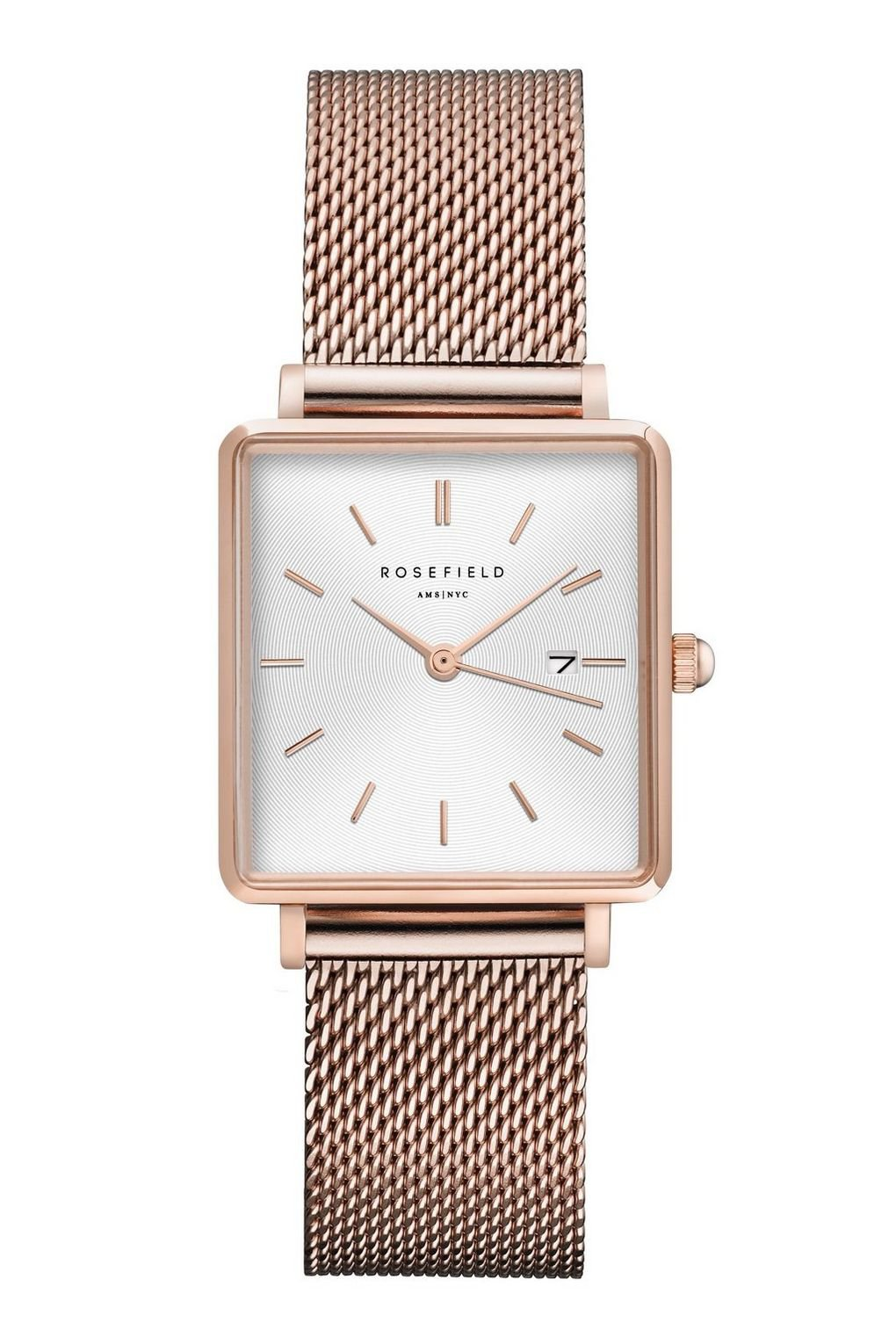 **The Boxy Rose Gold Sunray Watch by Rosefield - Watches - Bags & Accessories - Topshop