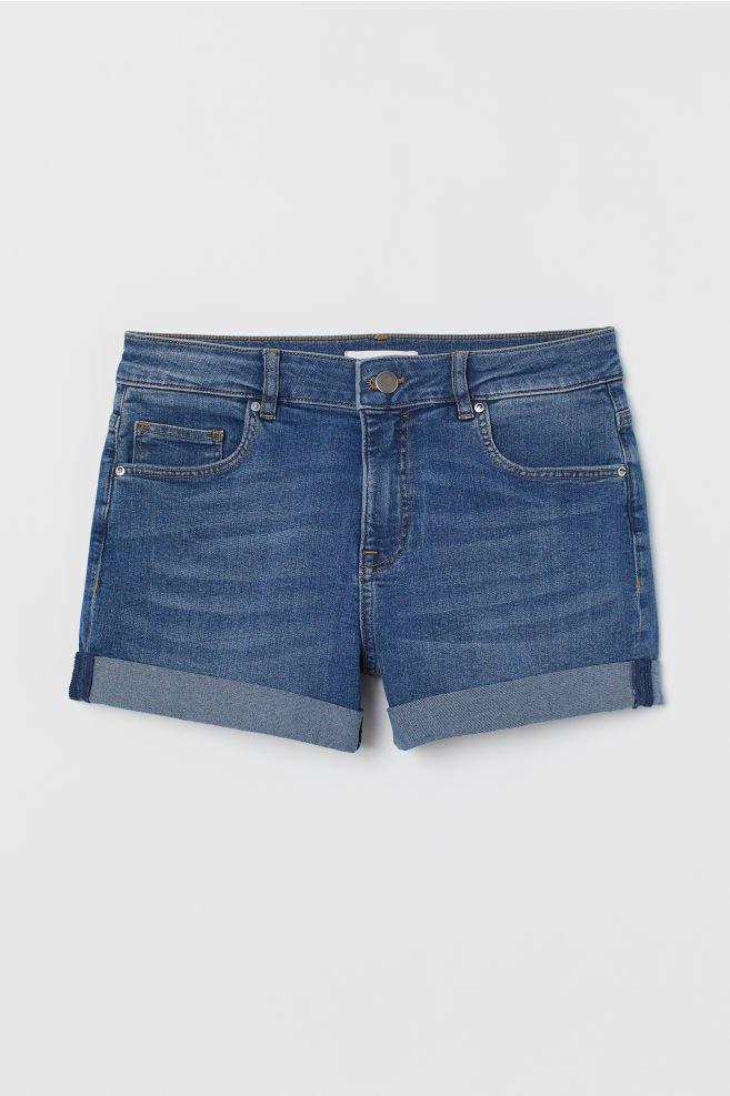 Short denim shorts - Denim blue - Ladies | H&M GB