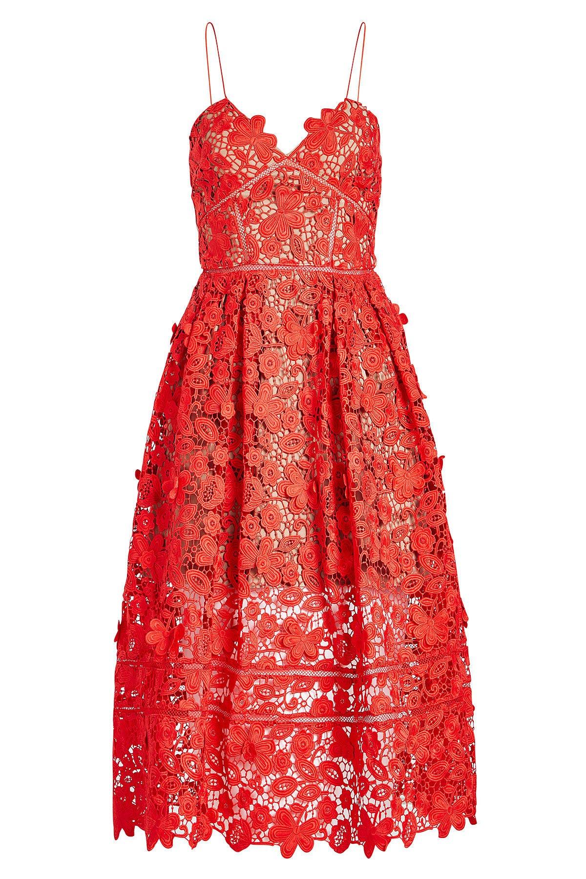 Azaelea 3D Lace Fit & Flare Dress Gr. UK 4