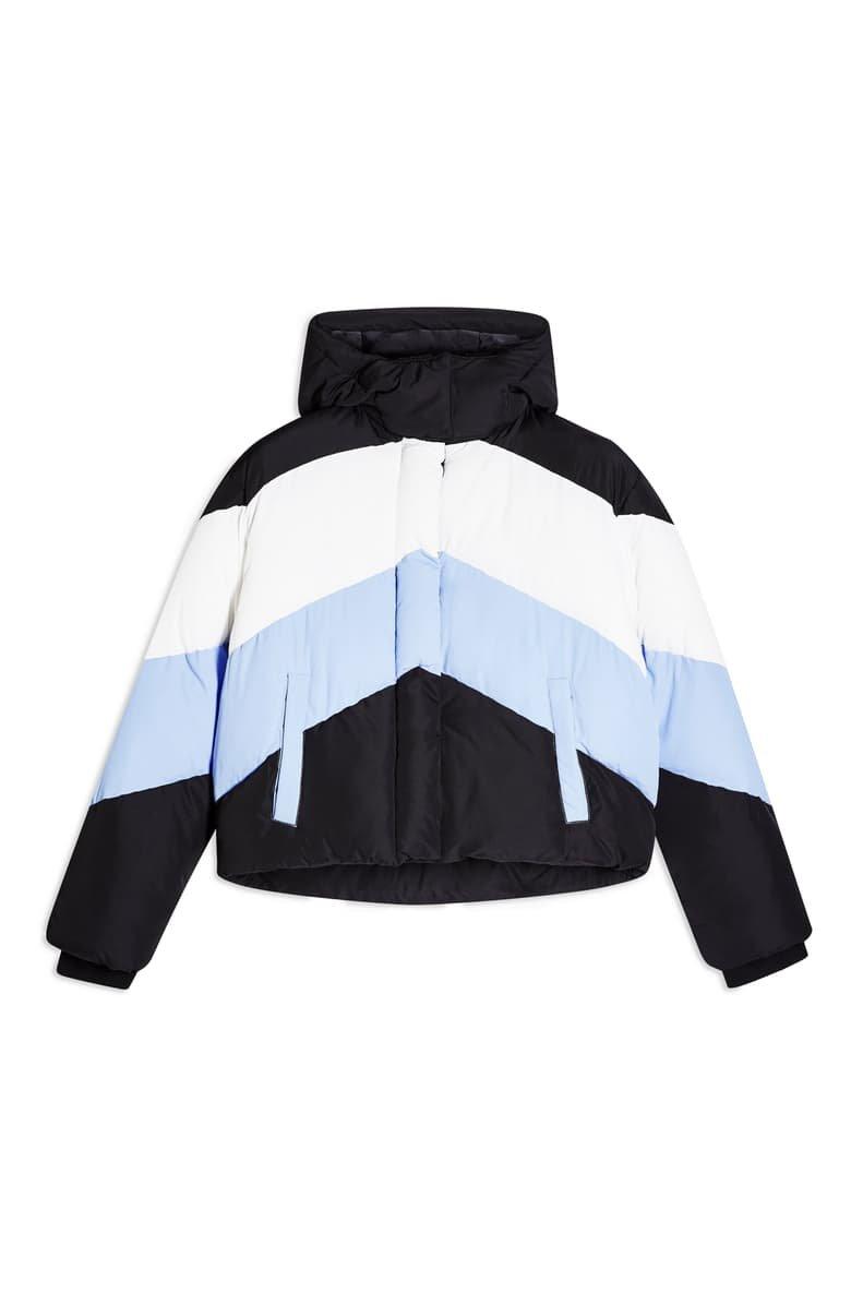 Topshop Colorblock Puffer Jacket | Nordstrom