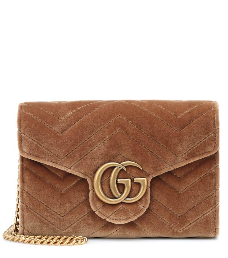 Gg Marmont Velvet Shoulder Bag | Gucci - mytheresa.com