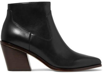 Razor Leather Ankle Boots - Black