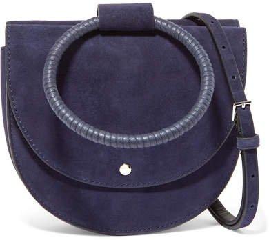 Whitney Suede Shoulder Bag - Navy