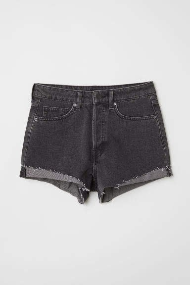 Denim Shorts - Gray