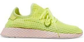 Deerupt Suede-trimmed Neon Mesh Sneakers