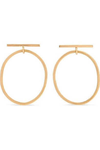 Melissa Joy Manning | gold hoop earrings