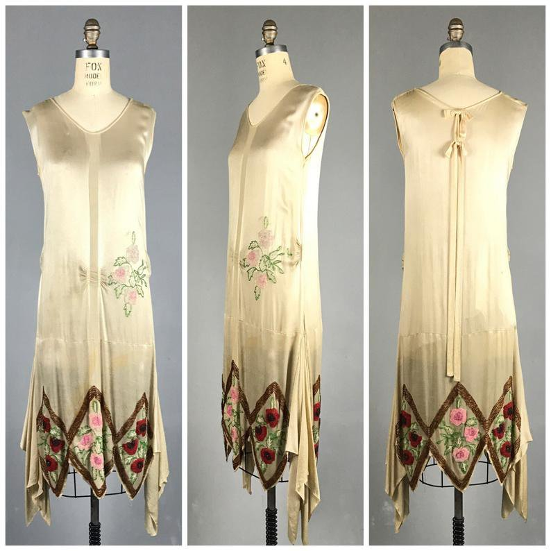 1920s dress / flapper / silk beaded JAZZ AGE wedding dress | Etsy