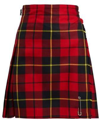 Le Kilt - Wallace 48cm Tartan Wool Kilt - Womens - Red Multi
