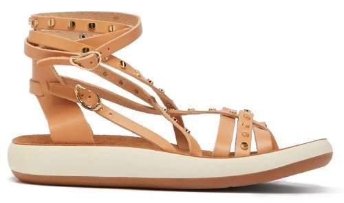 Satira Embellished Leather Sandals - Womens - Tan
