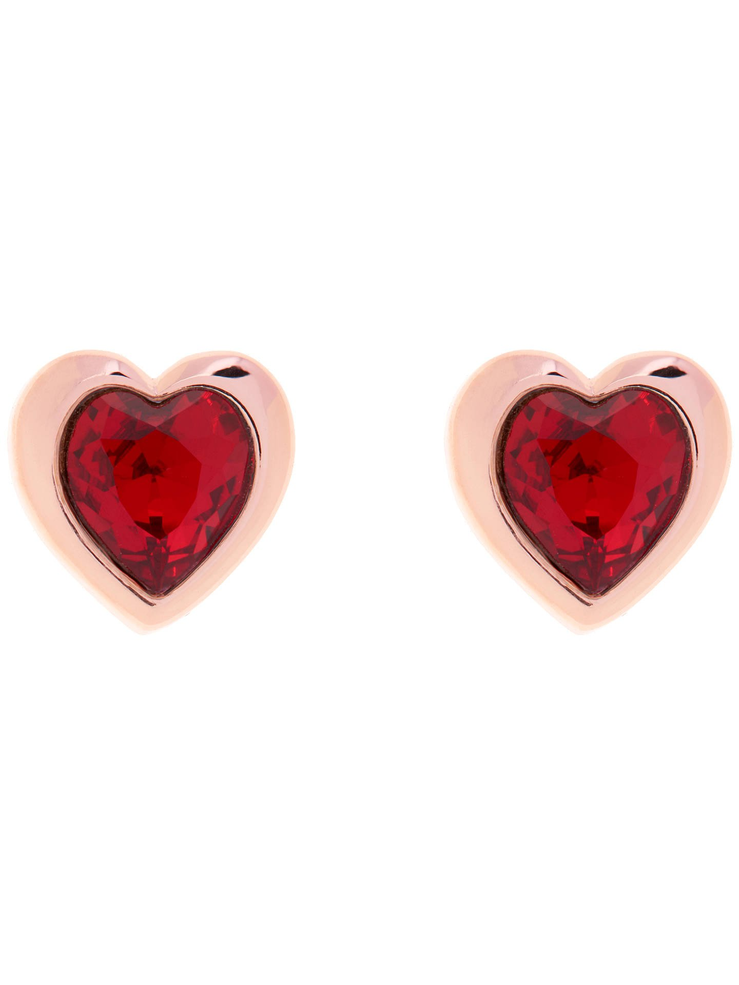 Ted Baker Hanella Swarovski Crystal Heart Stud Earrings at John Lewis & Partners