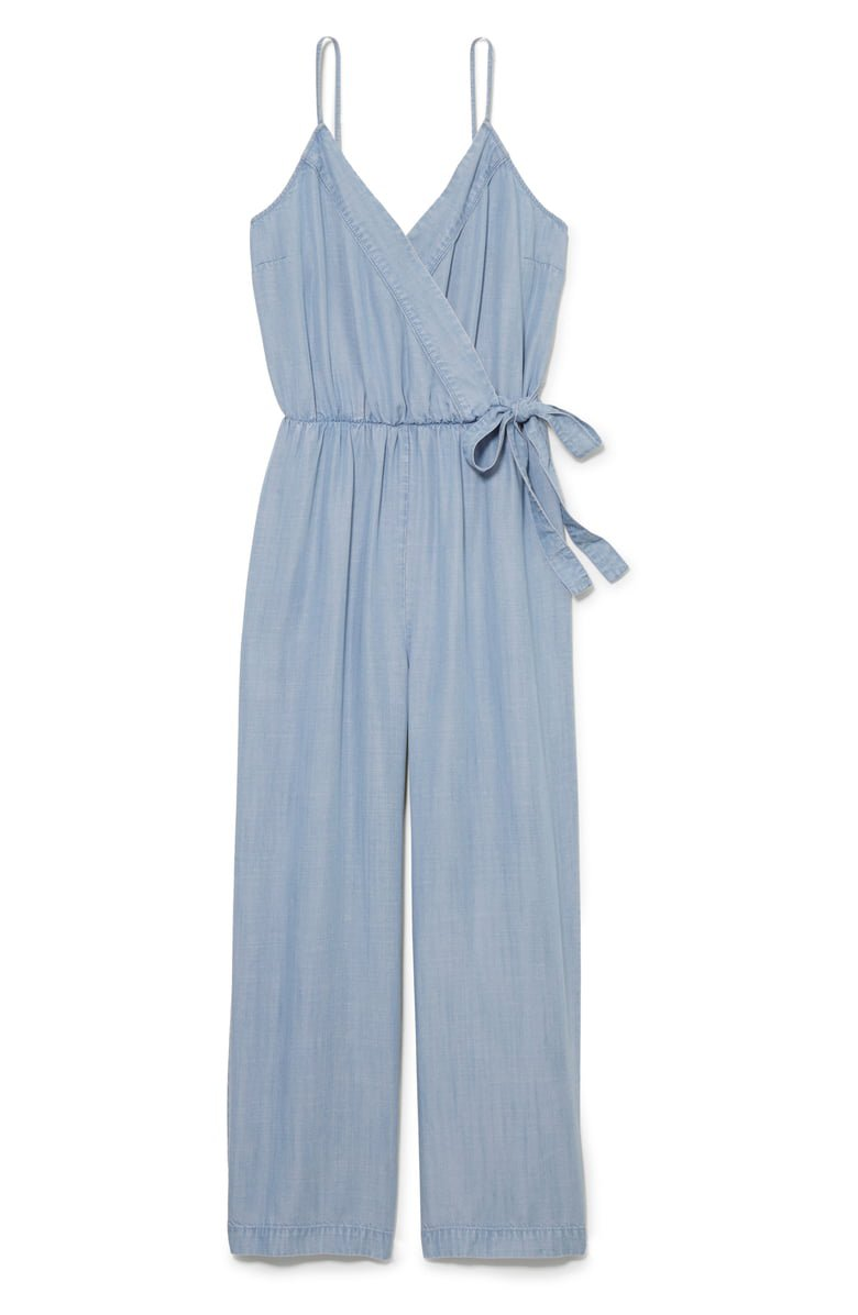 Vince Camuto Chambray Wrap Front Jumpsuit   Nordstrom