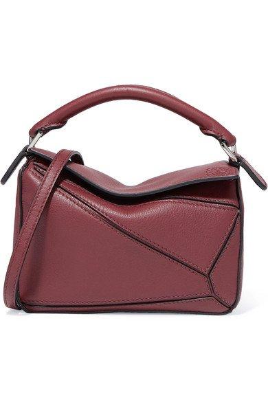 Loewe   Puzzle mini textured-leather shoulder bag   NET-A-PORTER.COM