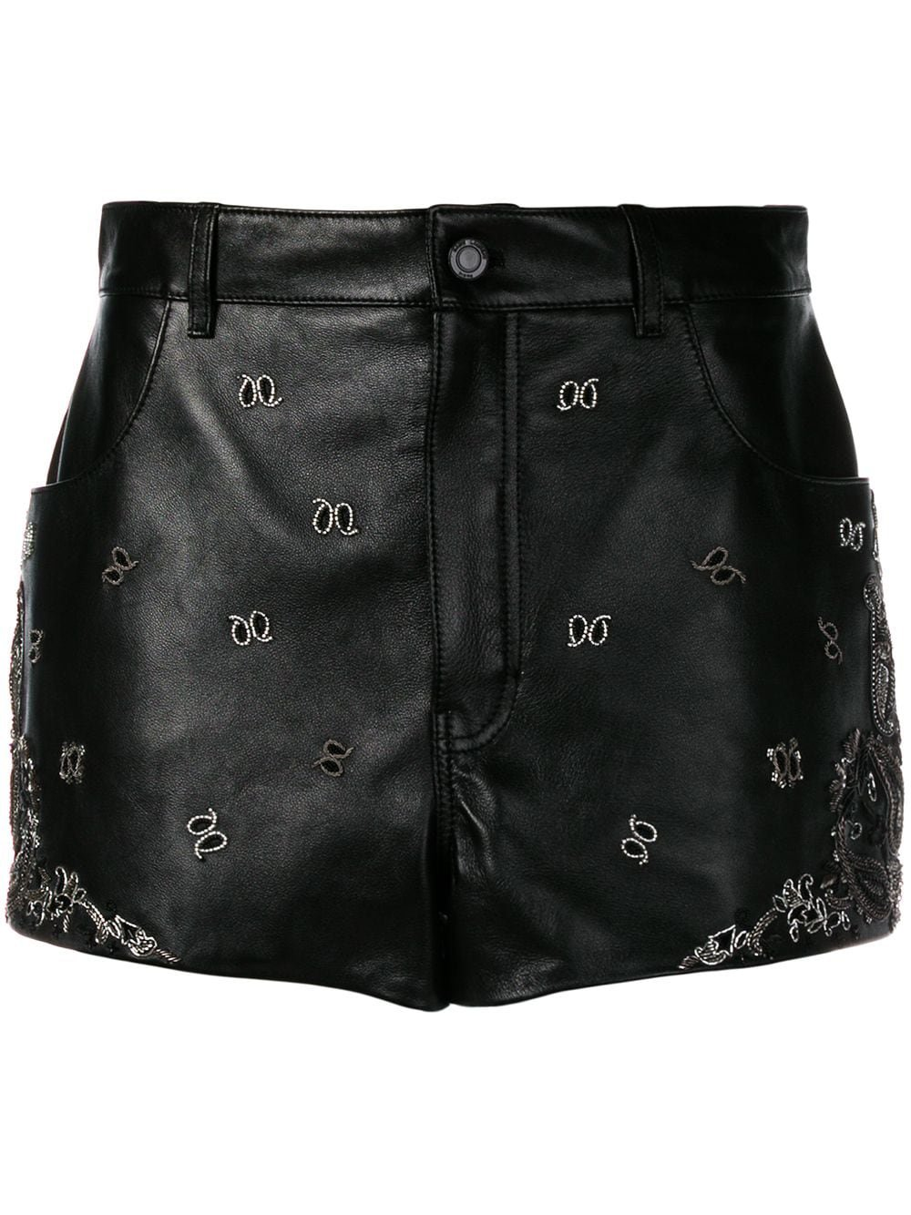 Saint Laurent Embroidered Mini Skirt | Farfetch.com