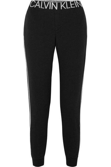 Calvin Klein Underwear | Statement 1981 embroidered cotton-blend jersey track pants | NET-A-PORTER.COM