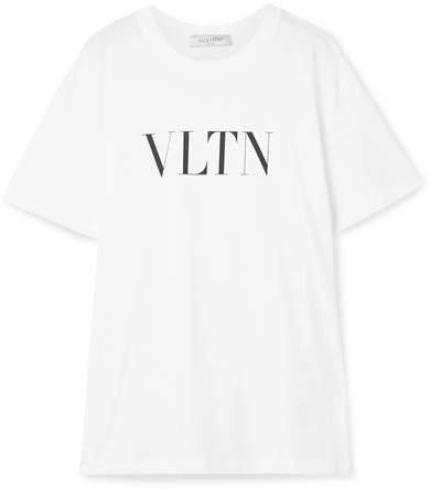 Oversized Printed Cotton-jersey T-shirt - White