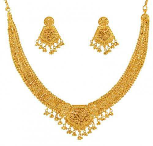 gold necklace and earrings - Google Search
