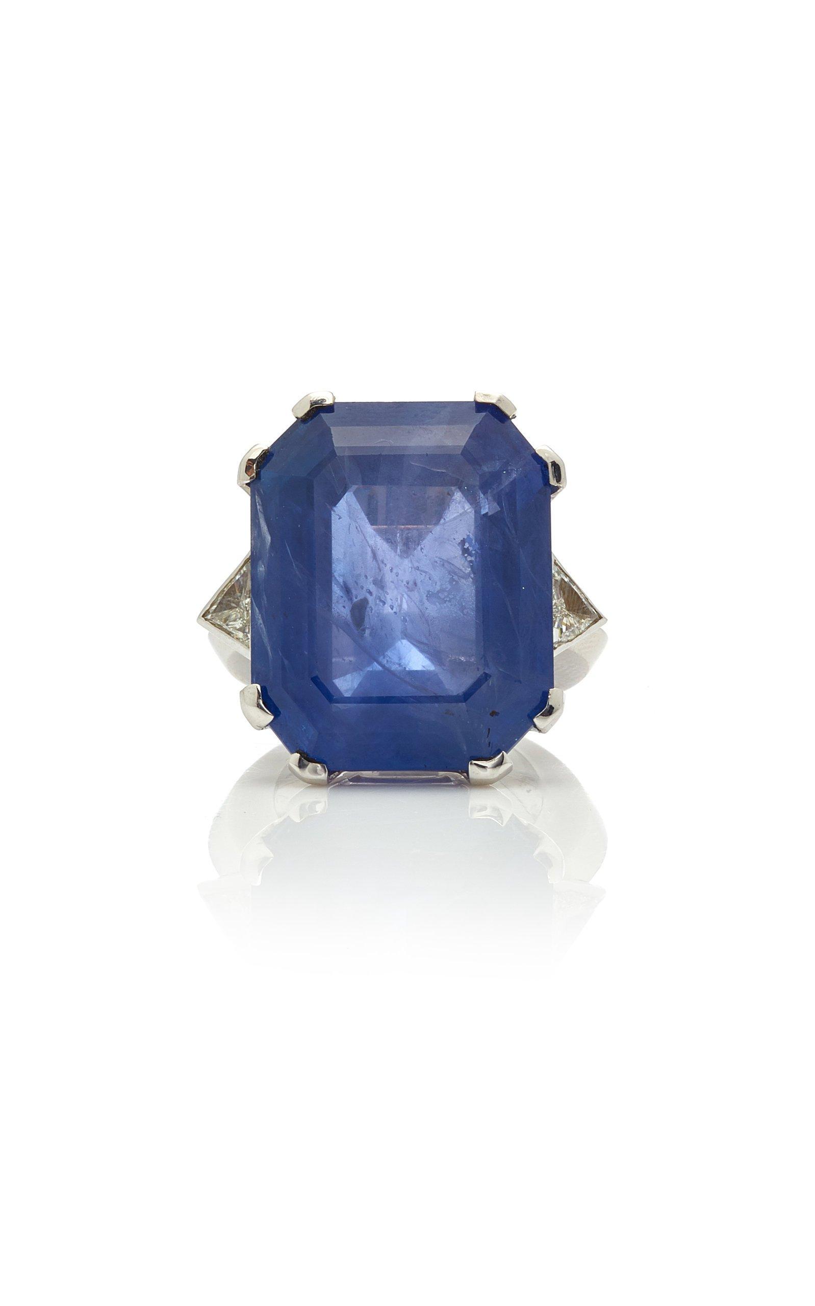 Eleuteri Ceylon Sapphire And Diamond Ring