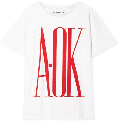 L.F.Markey - Oversized Printed Cotton-jersey T-shirt - White