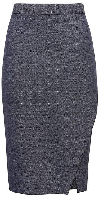 Wrap Effect Pencil Skirt