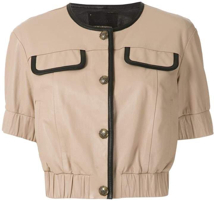 Andrea Bogosian buttoned leather blouse