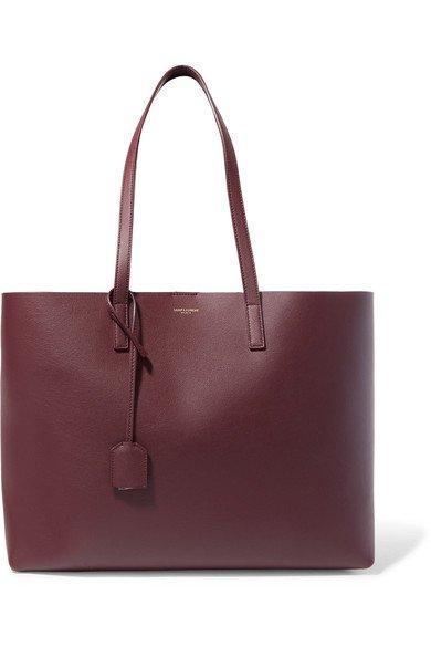 SAINT LAURENT | Shopper large textured-leather tote | NET-A-PORTER.COM