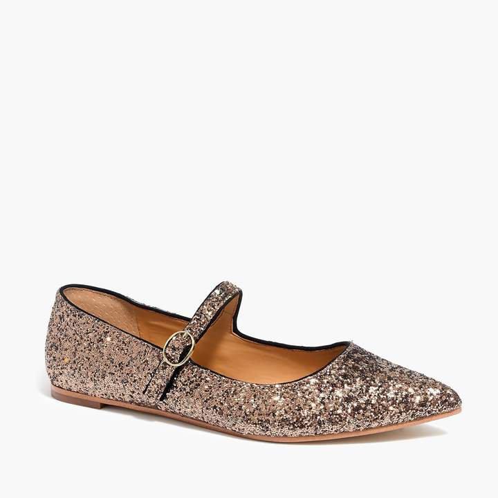 Mary Jane flats in glitter