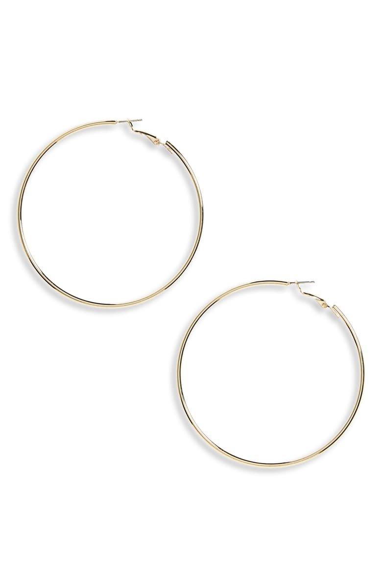 Panacea Gold Hoop Earrings | Nordstrom