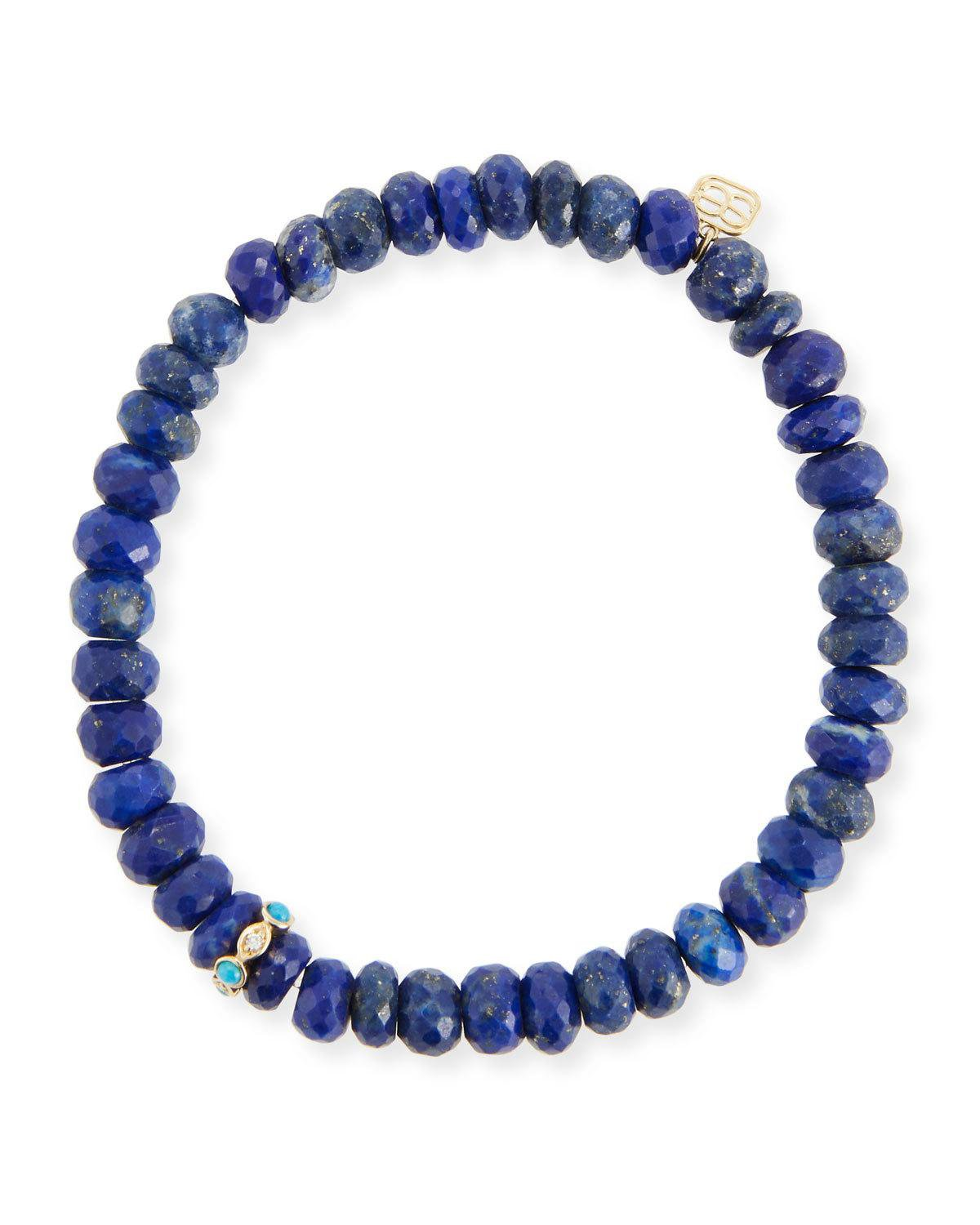 Sydney Evan 8mm Lapis Beaded Bracelet