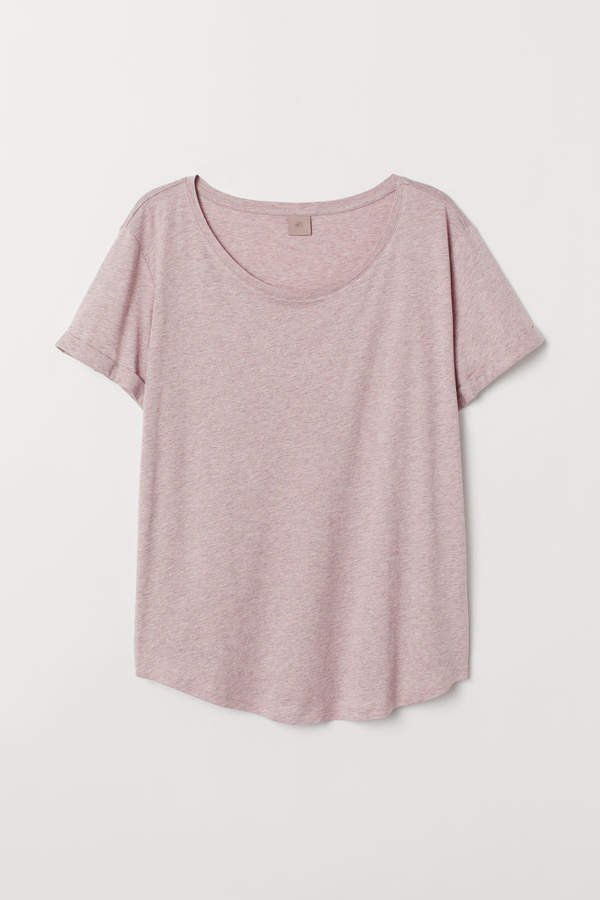 H&M+ Modal-blend T-shirt - Orange