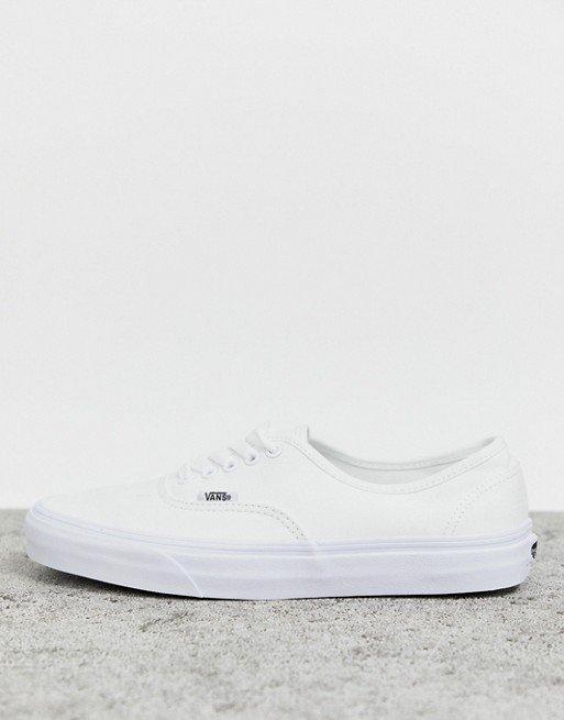 Vans Classic Authentic triple white trainers   ASOS