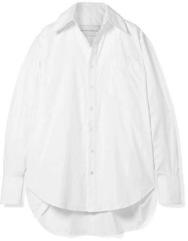 Matthew Adams Dolan - Oversized Cotton-poplin Shirt - White