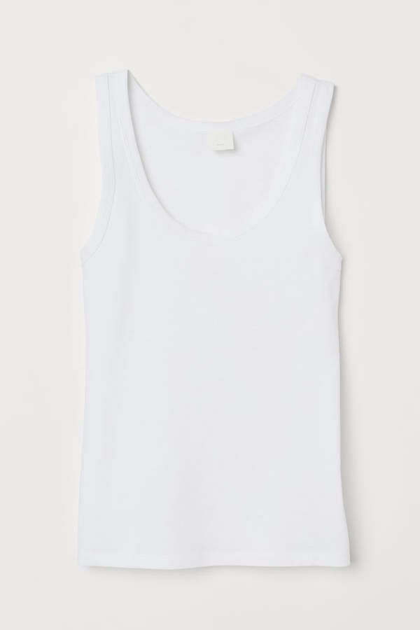 Cotton Tank Top - White