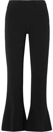 Stretch-cady Kick-flare Pants