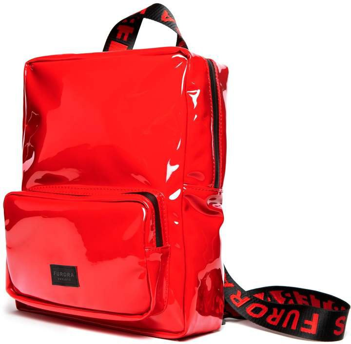 FURORA SUBTERA - Red Vinyl Backpack With Red Furora Straps