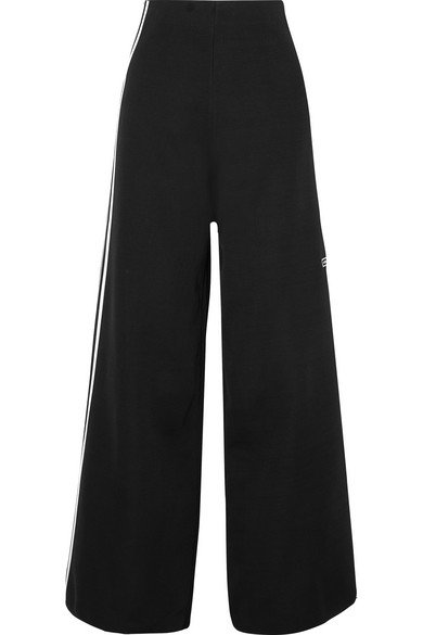 adidas Originals | Striped stretch-knit wide-leg track pants | NET-A-PORTER.COM