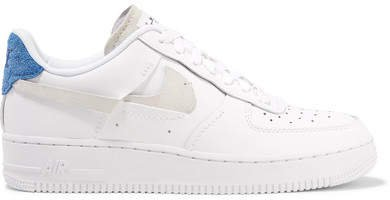 Air Force 1 Lx Suede-trimmed Leather Sneakers - White