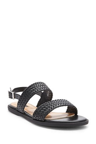 Braided Faux Leather Sandals | Forever 21