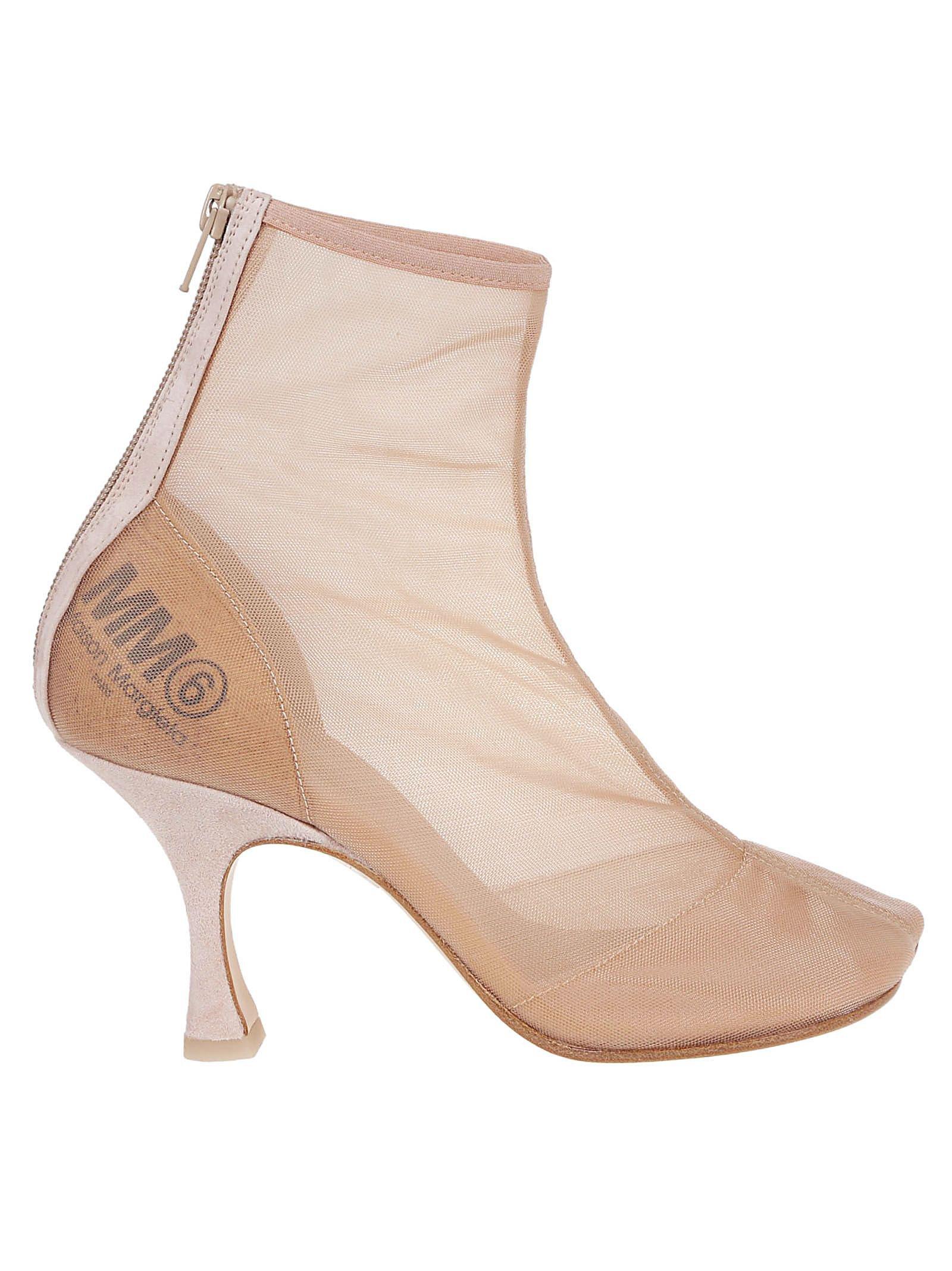Mm6 Maison Margiela Zipped Ankle Boots
