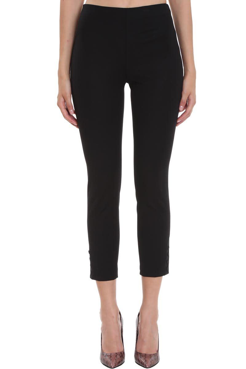 Theory Pants In Black Cotton
