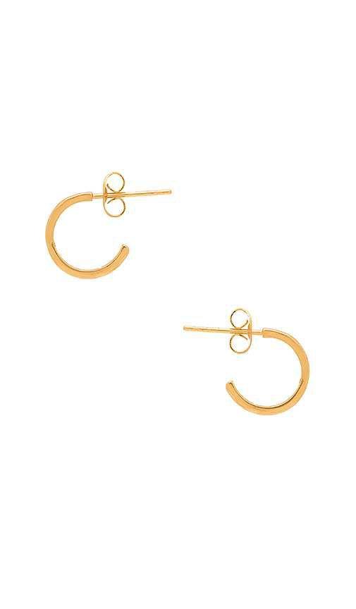 gorjana Taner Mini Hoop Earrings in Gold   REVOLVE
