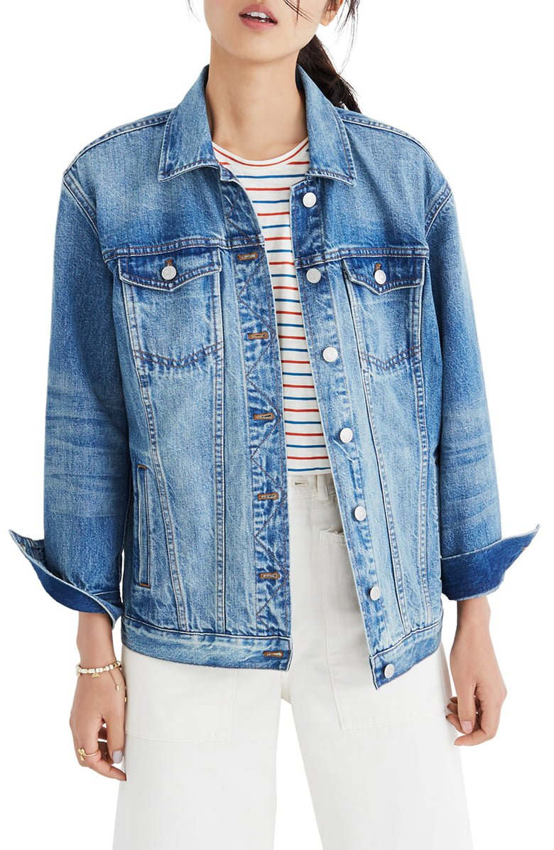 Madewell Oversize Denim Jacket   Nordstrom
