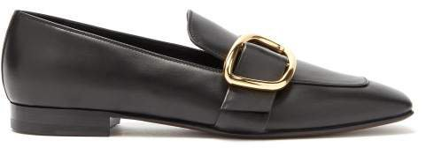 Charmer Leather Loafers - Womens - Black