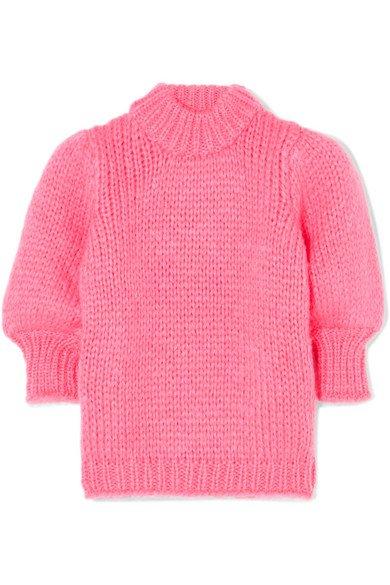 GANNI | Mohair and wool-blend sweater | NET-A-PORTER.COM