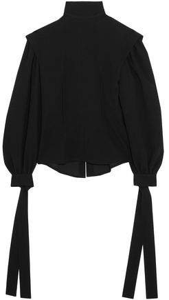 Crepe Turtleneck Top