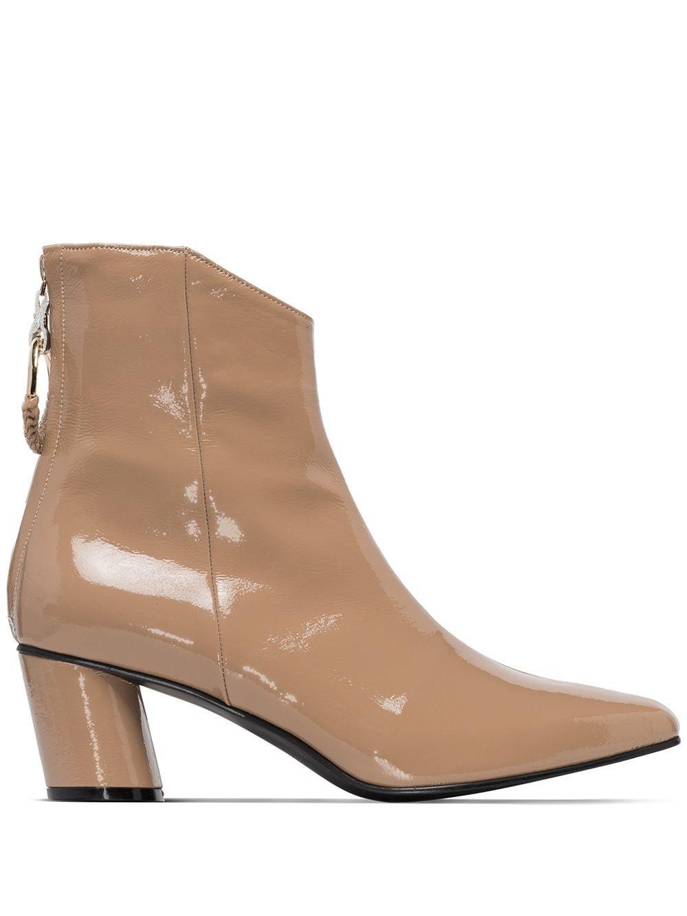Reike Nen Patent 60mm Ankle Boots - Farfetch