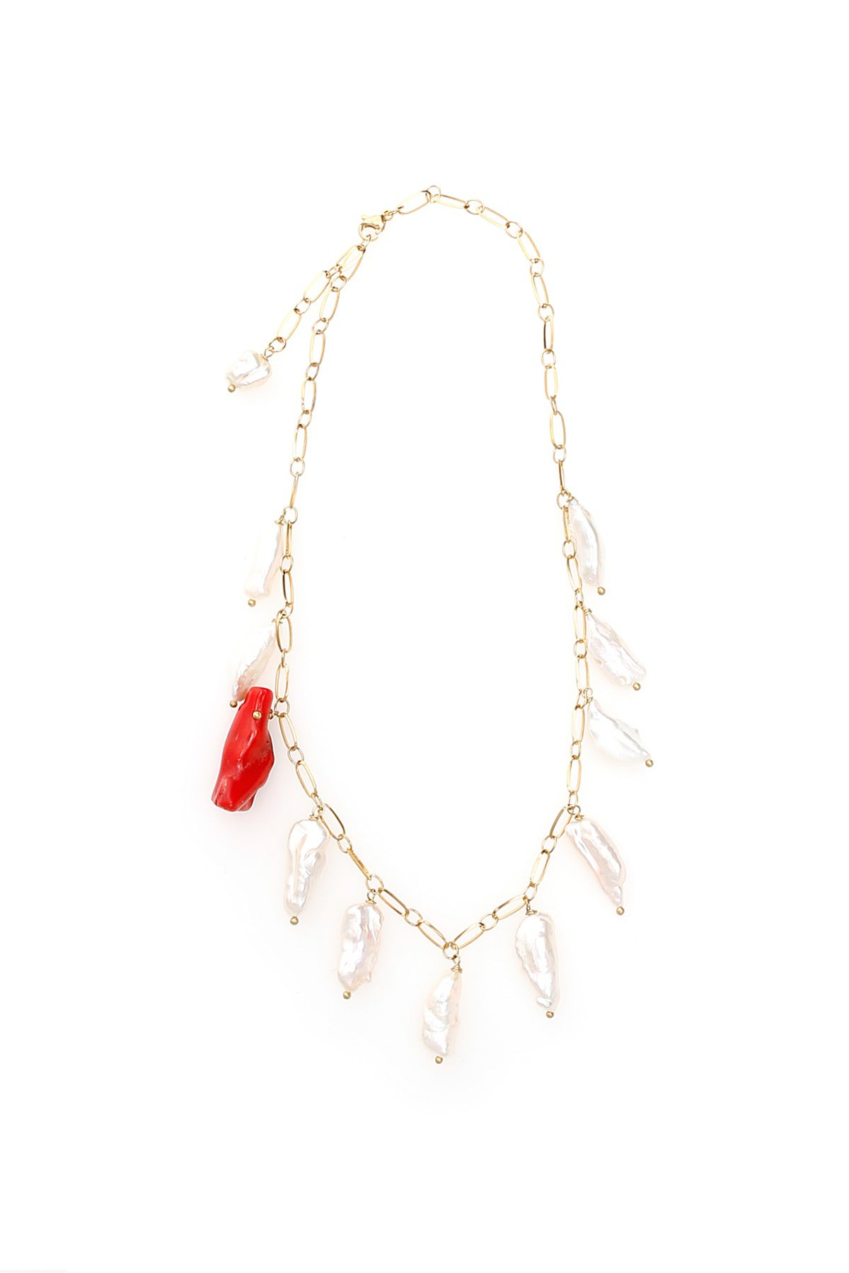 Timeless Pearly Pearl And Coral Necklace