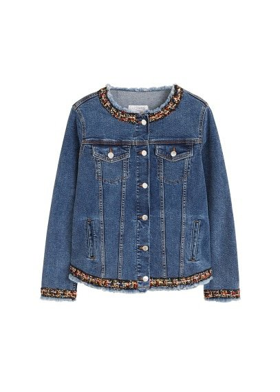 Violeta BY MANGO Embroidered denim jacket
