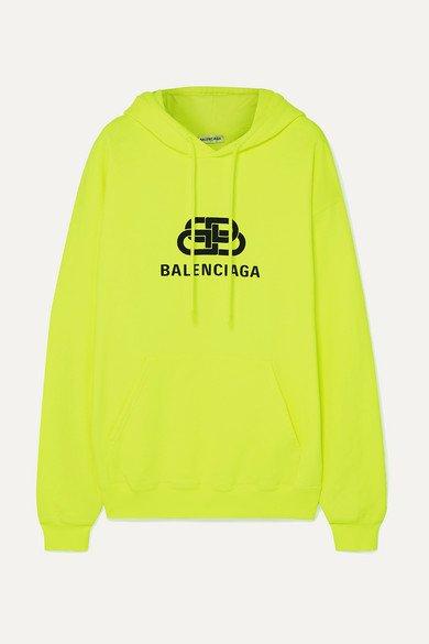 Balenciaga   Printed cotton-jersey hoodie   NET-A-PORTER.COM