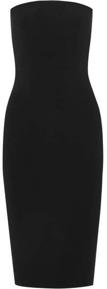 Strapless Stretch-jersey Dress - Black