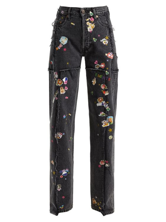 VETEMENTS  Sticker mid-rise straight leg jeans